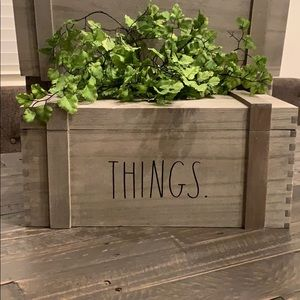 🎀🆕Rae Dunn THINGS Wooden Trunk Crate
